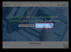 StartSSLのホームページ