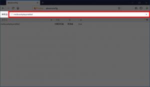 検索欄に「media.autoplay.enabled」と入力する